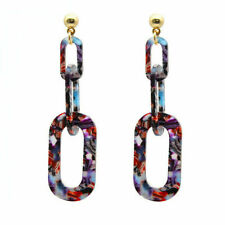 Fashion Women Colorfull Ear Acrylic Drop Dangle Earrings Jewelry Gift