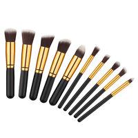 10PCS Makeup Brush Set Pro Make up Cosmetic Brushes Kit Face Foundation