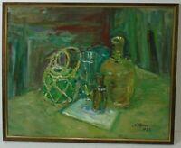 "Norddeutsche Künstler Hamburger Maler Albert Feser ""Stillleben"" Öl, signiert"