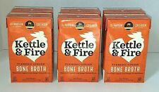 LOT of (6) Kettle & Fire Turmeric Ginger Chicken Bone Broth Keto Paleo Whole 30
