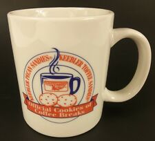Keebler Coffee Cup Mug Pecan Toffee Sandies Official Cookies of Coffee Breaks