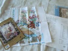 Cross Stitch Kit Lot Vintage unfinished  Candamar Designs Lady Teddy Spring