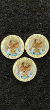 2020 Colorized America The Beautiful Somoa Bat Quarters Pds Mints (3) Coins