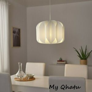 "NEW IKEA MOJNA Pendant lamp shade, textile/white 19"" New"