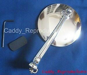 """1920 - 1949 Cadillac Driver OR Passenger Mirror One """"Peep Style"""" Universal Style"""