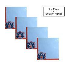 Auburn University AU Tigers 4-Pack Team Spirit Sticky Pad Notes Notepads