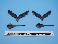 2014-2019 C7 Corvette Custom Black Emblem 5pc Set - Flags Stingraysr