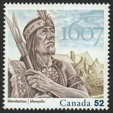 400 Years of FRENCH SETTLEMENT = CHIEF MEMBERTOU Canada 2007 #2226 [4/5y] MNH-VF