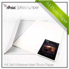 Rihac Sticker Paper Self Adhesive Glossy Photo Paper A4 50pk x 115/80gsm inkjet