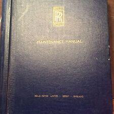 Rolls-Royce Avon 520 Engine Maintenance Manual