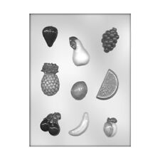 CK Products 90-13327 Mixed Fruit Assortment Plastic Chocolate Mold