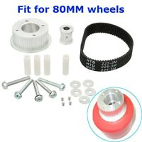 17Pcs DIY Electric Skateboard Kit Single Drive Belt Motor Pulley for 80MM Wheels