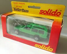 Vintage SOLIDO Talbot Rancho # 2004 Green 1/43 SCALE DIECAST France Toner Gam