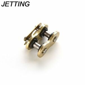 O Ring Connecting Master Chain Link Gold Split/Clip Kit For Motorcycle 520H DID