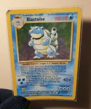 Blastoise Original Base Set HOLO Very Rare  2/102 Pokemon Card WOTC 1999 - Used