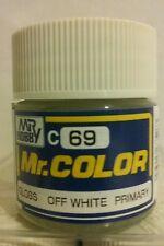 """Gunze Sangyo """"Mr. Color"""" acrylic paint C-69 Off White 10ml."""