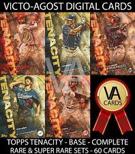 Topps Bunt Tenacity COMPLETE RARE & SUPER RARE BASE SETS - 60 Cards [BUNT APP]