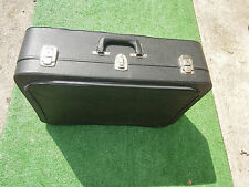 Valise ancienne de voyage Skaï Noir..simili cuir 1950/60 déco loft