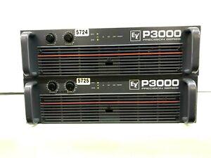 EV / ELECTRO-VOICE P3000 POWER AMPLIFIER PRECISION SERIES #5724 #5725 (ONE)