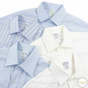 LOT OF 5 Brooks Brothers Multi Color Cotton Striped Spread Dress Shirts 14.5