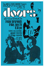 Classic Rock: Jim Morrison & Doors at Fresno Fairgrounds Concert Poster 1968