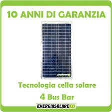 Pannello Solare Fotovoltaico 30W 12V Carica Batteria Auto Camper Nautica + Ebook