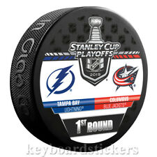 Tampa Bay Lightning vs Columbus Blue Jackets 2019 Playoffs Dueling Hockey Puck