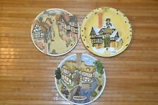 David Winter Cottages Plaques Wall Plates Lot Christmas 1994 Guild Piece Scrooge