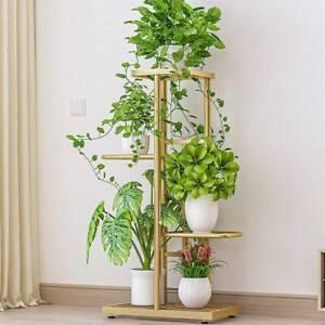 4 Tiers Outdoor Metal Plant Stand Flower Garden Display Holder Shelf Rack Gold