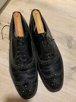 Allen Edmonds Mens Neumok Black Leather Wing Tip Oxfords USA Size 9D