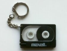 VINTAGE MAXELL CASSETTE TAPE PEN KEYCHAIN KEYRING KEY CHAIN RING COLLECTABLE