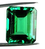 100% Natural Emerald Cut 28.35 Ct Colombian Emerald Gemstone AGI Certified H2037