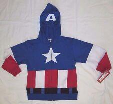 NWT Marvel boys captain america hooded sweatshirt  full zipper size Small