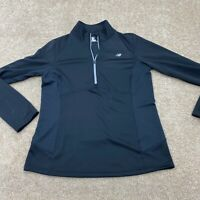 New Balance Long Sleeve 1/4 Zip Jacket Women's Size Medium Black