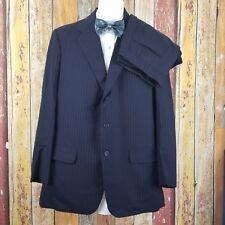 Savile Row England Bespoke Anderson & Sheppard 2 Piece Suit 42 Long 35x33