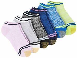 Gold Toe Womens 6-pk. Marled Stripe Cushion Liner Socks 9.5-11 Multi marled