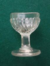"""Rare Clear Glass Gadrooned Spiral French Eye Bath  PERFECT """"2"""" Mark to Base  4."""