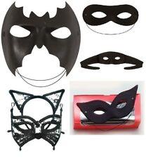 LADIES MENS Unisex DOMINO SHAPE SUPER HERO BATMAN EYEMASK MASQUERADE FANCY DRESS