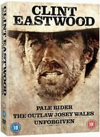 CLINT EASTWOOD Pale Rider/The Outlaw Josey Wales/Unforgiven NEW REGION 2 DVD PAL