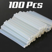 100x 7mm Adhesive Hot Melt Glue Sticks For Trigger Electric Gun Hobby Craft Tool