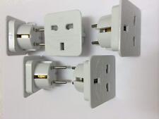 3 Travel Adaptor UK to EU Pin Convert Power European Plug Converter Euro Charger