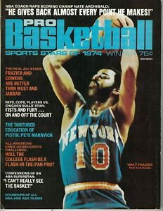 1974 Pro Basketball Sports Stars Walt Frazier New York Knicks Pete Maravich VG