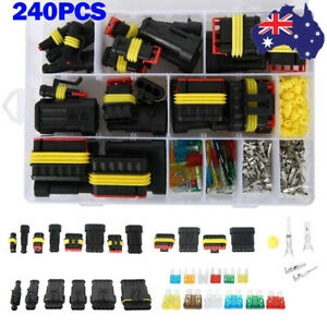 Car Waterproof Electrical Wire Cable Automotive Connector 1-6Pin Way Plug Kit AU