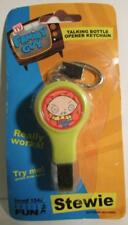 Family Guy Stewie Talking Bottle Opener Keychain Collectible x 3 - Not working