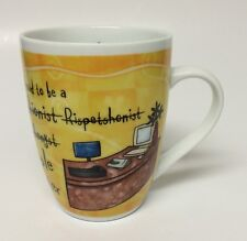 Top Receptionist Job Coffee Mug Cup Funny Misspellings People Greeter Porcelain