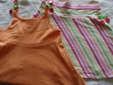 GYMBOREE 2 PC TOP SIZE 5 6 YEARS OUTFIT SKIRT CHERRY BABY EUC SHIRT TANK SCHOOL