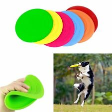 Soft Pet Toy Frisbee Flying Disc Tooth Resistant for Dog Exercise Training Tool