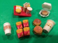 McDonald's Barbie Size Doll Accessories Miniature Food Hamburger Fries + Diorama