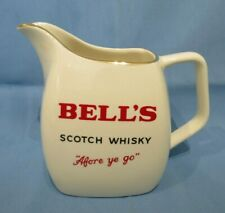 Vintage Bell's Scotch Whisky Wade Pdm Water Vintage 'Afore Ye Go' Water Jug