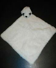 Doudou Plat Ours Panda Blanc Noir Pompon Revers Verbaudet TBE